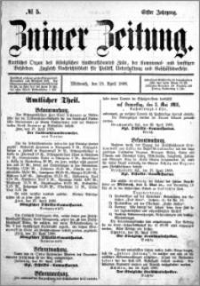 Zniner Zeitung 1888.04.25 R.1 nr 5