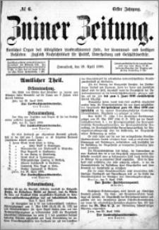 Zniner Zeitung 1888.04.28 R.1 nr 6