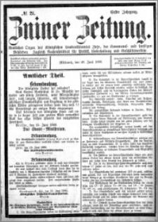 Zniner Zeitung 1888.06.20 R.1 nr 21