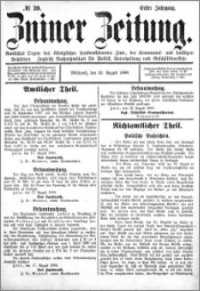 Zniner Zeitung 1888.08.22 R.1 nr 39