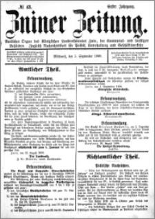 Zniner Zeitung 1888.09.05 R.1 nr 43