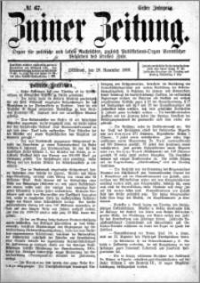 Zniner Zeitung 1888.11.28 R.1 nr 67