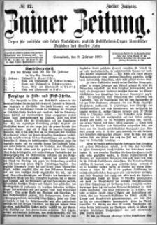 Zniner Zeitung 1889.02.09 R.2 nr 12