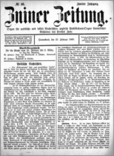 Zniner Zeitung 1889.02.23 R.2 nr 16