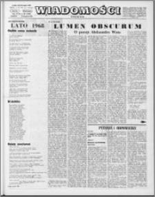 Wiadomości, R. 23 nr 45 (1180), 1968