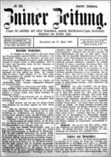 Zniner Zeitung 1889.04.27 R.2 nr 33