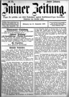 Zniner Zeitung 1889.09.25 R.2 nr 75