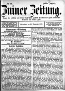 Zniner Zeitung 1889.09.28 R.2 nr 76
