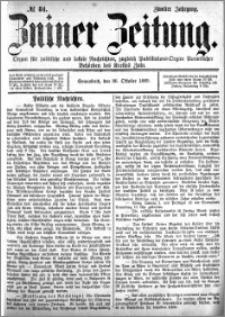 Zniner Zeitung 1889.10.26 R.2 nr 84