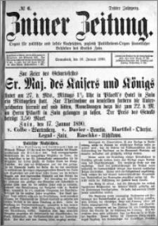 Zniner Zeitung 1890.01.18 R.3 nr 6