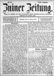 Zniner Zeitung 1890.02.26 R.3 nr 17
