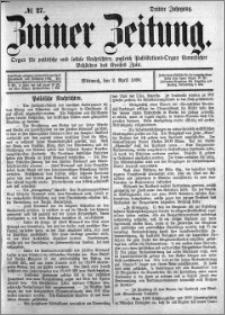 Zniner Zeitung 1890.04.02 R.3 nr 27