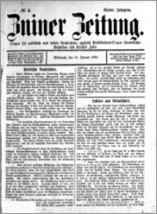 Zniner Zeitung 1891.01.14 R.4 nr 4