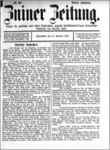 Zniner Zeitung 1891.02.14 R.4 nr 13