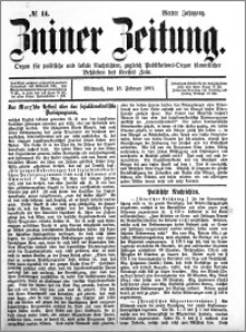 Zniner Zeitung 1891.02.18 R.4 nr 14