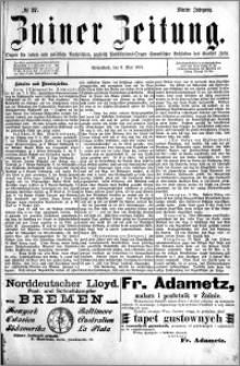 Zniner Zeitung 1891.05.09 R.4 nr 37