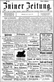 Zniner Zeitung 1891.06.10 R.4 nr 45