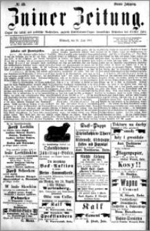 Zniner Zeitung 1891.06.24 R.4 nr 49