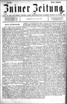Zniner Zeitung 1891.06.27 R.4 nr 50