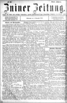 Zniner Zeitung 1891.11.04 R.4 nr 87
