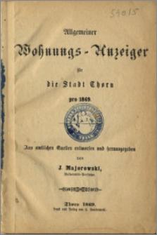 Allgemeiner Wohnungs-Anzeiger für die Stadt Thorn pro 1869