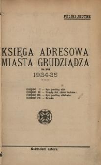 Księga Adresowa miasta Grudziądza na rok 1924-25