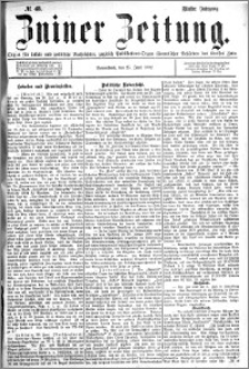 Zniner Zeitung 1892.06.25 R.5 nr 48