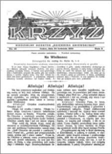 Krzyż 1930, R. 2, nr 16