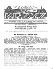 Krzyż 1932, R. 4, nr 1