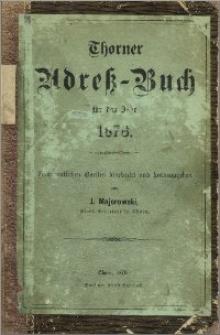 Thorner Adress-Buch für das Jahr 1876