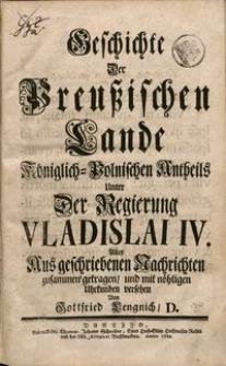 Geschichte der Preußischen Lande königlisch-polnischen Antheils..., t. 6