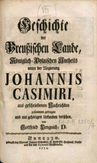 Geschichte der Preußischen Lande königlisch-polnischen Antheils..., t. 7