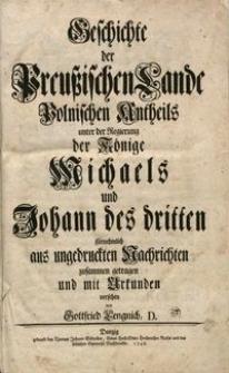 Geschichte der Preußischen Lande königlisch-polnischen Antheils..., t. 8