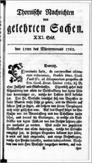 Thornische Nachrichten von Gelehrten Sachen, 1762.11.15 nr 21