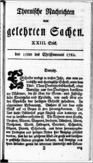 Thornische Nachrichten von Gelehrten Sachen, 1762.12.15 nr 23