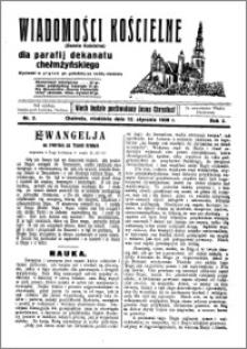Wiadomości Kościelne : (gazeta kościelna) : dla parafij dekanatu chełmżyńskiego 1930, R. 2, nr 2