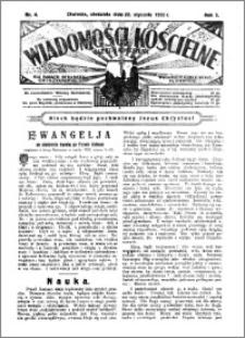 Wiadomości Kościelne : (gazeta kościelna) : dla parafij dekanatu chełmżyńskiego 1933, R. 5, nr 4