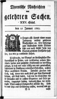 Thornische Nachrichten von Gelehrten Sachen, 1763.01.15 nr 25