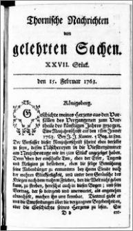 Thornische Nachrichten von Gelehrten Sachen, 1763.02.15 nr 27