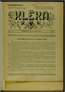Klëka 1937, R. 1, nr 1