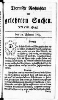 Thornische Nachrichten von Gelehrten Sachen, 1763.02.28 nr 28