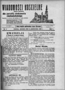 Wiadomości Kościelne : (gazeta kościelna) : dla parafij dekanatu chełmżyńskiego 1929, R. 1, nr 4