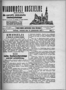 Wiadomości Kościelne : (gazeta kościelna) : dla parafij dekanatu chełmżyńskiego 1929, R. 1, nr 5