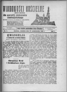 Wiadomości Kościelne : (gazeta kościelna) : dla parafij dekanatu chełmżyńskiego 1929, R. 1, nr 7