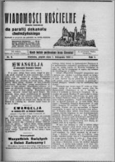 Wiadomości Kościelne : (gazeta kościelna) : dla parafij dekanatu chełmżyńskiego 1929, R. 1, nr 8