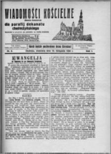 Wiadomości Kościelne : (gazeta kościelna) : dla parafij dekanatu chełmżyńskiego 1929, R. 1, nr 9