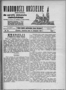 Wiadomości Kościelne : (gazeta kościelna) : dla parafij dekanatu chełmżyńskiego 1929, R. 1, nr 10