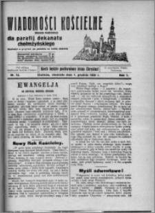 Wiadomości Kościelne : (gazeta kościelna) : dla parafij dekanatu chełmżyńskiego 1929, R. 1, nr 12