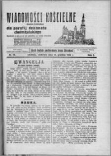 Wiadomości Kościelne : (gazeta kościelna) : dla parafij dekanatu chełmżyńskiego 1929, R. 1, nr 14
