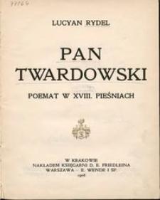 Pan Twardowski : poemat w XVIII pieśniach